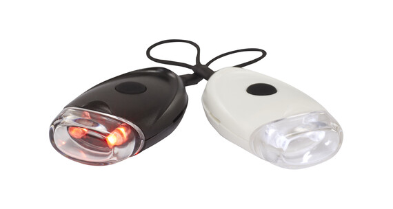 Red Cycling Products EasyOn LED Sykkellys Sett Hvit/Svart
